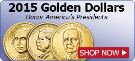 2015 Golden Dollars honor America's presidents - Shop Now