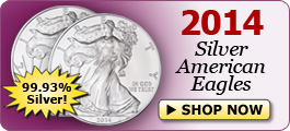 2014 Silver American Eagles - Shop Now