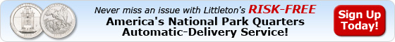 America's National Park Quarters Automatic Delivery Serivce - Sign up today!