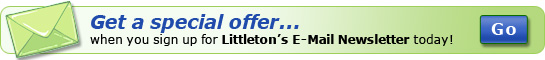 Get a special offer when you sign up for Littleton Coin Company's E-Mail Newsletter today!