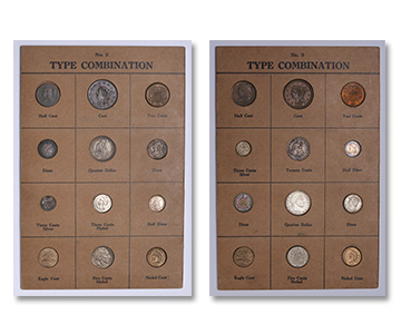[photo:Popular type coin holders from 75 years ago.]