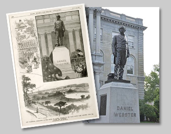 [photo: Unveiling ceremony for Daniel Webster statue from the June 26, 1886 issue of the weekly<br />