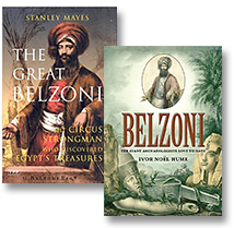 [photo: A few books on the life and achievements of 'The Great Belzoni']