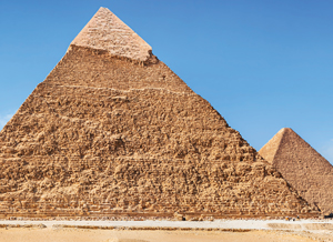 [photo: Second and third Pyramids of Giza]