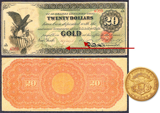 the 1866 20 gold certificate held by one family for four