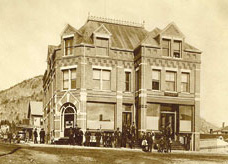 The historic Berlin NH National Bank on Post Office Square in 1892