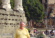 [photo: Here I am in the Roman Forum]