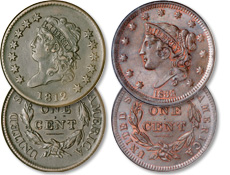 [photo: Classic Head and Liberty Head were the last large cents to be produced.]