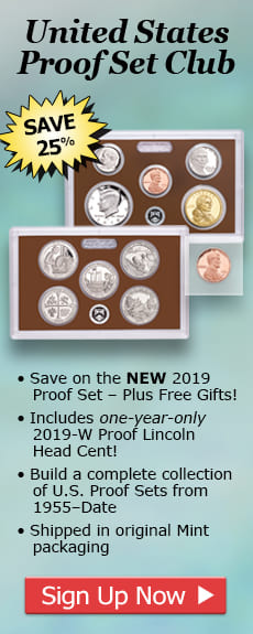 United States Proof Set Club - Save 25%! Sign up now...