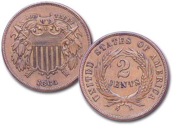 [photo: 1864 2-Cent Piece]