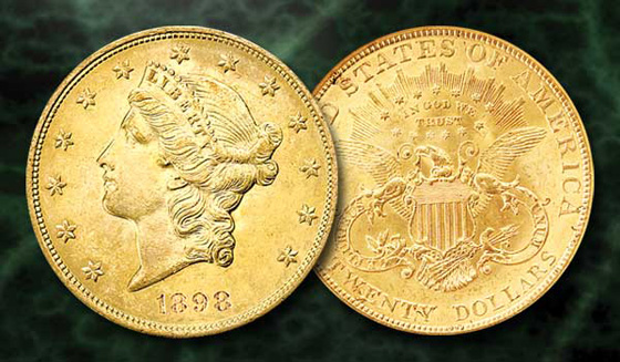 [photo: 1898 Liberty Head Double Eagle]