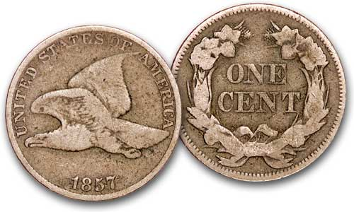 [photo: 1857 Flying Eagle Cent]