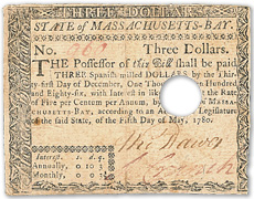 [photo: $3 Colonial Note]