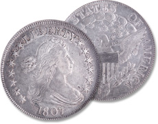 [photo: Draped Bust half with Heraldic Eagle reverse]