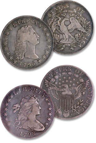 Photo Flowing Hair And D Bust Dollars Were The First Silver Struck By