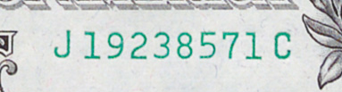 A block is the first and last letter in a serial number – this note comes from block JC.