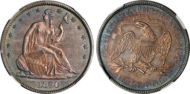 [photo: The only Uncirculated example known from the die pair 1A]