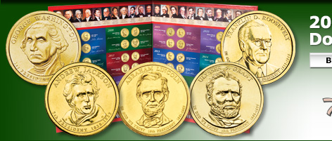 2007-2014 Presidential Dollar Set with Folder