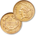 [photo: Indian Princess three dollar gold piece]