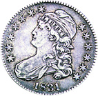 [photo: Capped Bust Half Dollar]