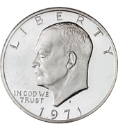 [photo: Eisenhower Dollar]