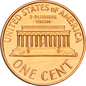 [photo: Lincoln Cent, Memorial Reverse]