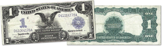 [photo: $1 Black Eagle Silver Certificate - Series 1899]