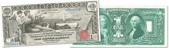 [photo: $1 Educational Series Silver Certificate - Series 1896]