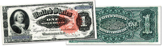 [photo: $1 Martha Washington Silver Certificate - Series 1886]