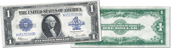 [photo: $1 Washington Silver Certificate - Series 1923]
