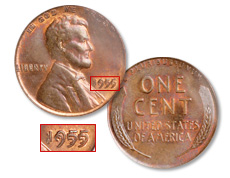 1955 Cent, Doubled Die Obverse