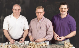 [photo: Littleton's coin buyers: Jim, Butch and Ken]