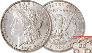 [photo: 1889‑CC Morgan Dollar]