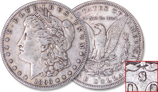 [photo: 1893‑S Morgan Dollar]