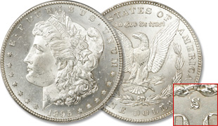 [photo: 1895‑S Morgan Dollar]