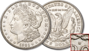 [photo: 1921-D Morgan Dollar]