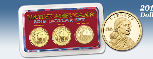 2015 Native American Dollar PDS All-Mint Set