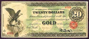 Civil War Gold Note Front