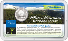 Littleton's Special Edition Forest Society Showpak featuring the White Mountain National Forest Coin