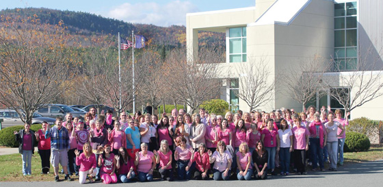 Pink was the color of choice at Littleton Coin during their recent Breast Cancer Awareness day.