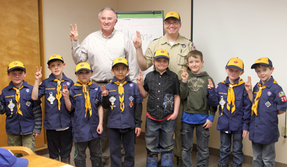 David Sundman with Cub Scout Pack 209