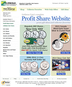 Littleton Coin Company's NEW Profit Share Website
