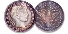 [photo: Named for their designer, classic 1892-1916 Barber silver quarters witnessed America's modernization during the turn of the 20th century.]