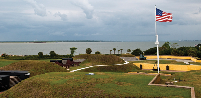 [photo: Fort Moultrie, honored on the fifth National Park quarter released]