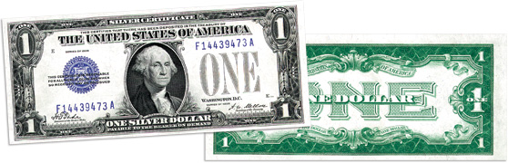 "[photo: $1 ""Funnyback"" Silver Certificate Series 1928A]"