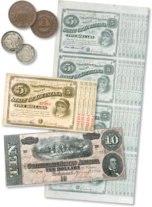 [photo: Your first collection could include coins, paper money, or a combination of both.]