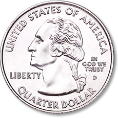 The Washington quarter obverse was modified in 1999 as part of the Statehood quarters program.
