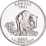 [photo: Kansas quarter design]