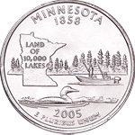 [photo: Minnesota quarter design]