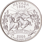[photo: Nevada quarter design]
